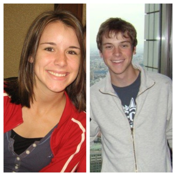 17 year old me (plus embarrassing Hollister shirt) and 18 year old Will (2006)